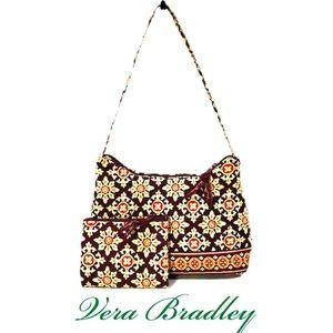 """Vera Bradley """"Medallion"""" Shoulder Bag & Coin Purse"""
